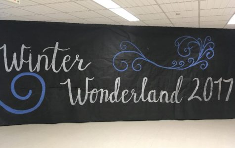 Decorations for the Winter Wonderland Dance