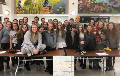 Student Council and DECA pose during charity week.