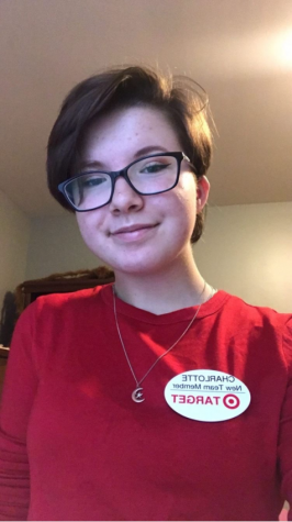 Charlotte Lee, 11, in her Target uniform.