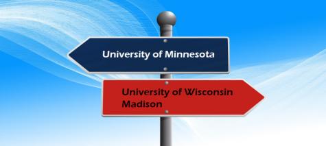 A Big 10 Rivalry: University of Minnesota - Twin Cities vs University of Wisconsin - Madison